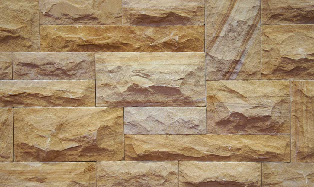 Natural Stone Cladding Elevation : Natural stone bricks tiles for exterior interior elevation