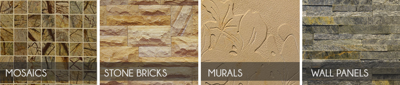 Sandstone Elevation Tiles : Designer natural stone murals wall panel mosaic
