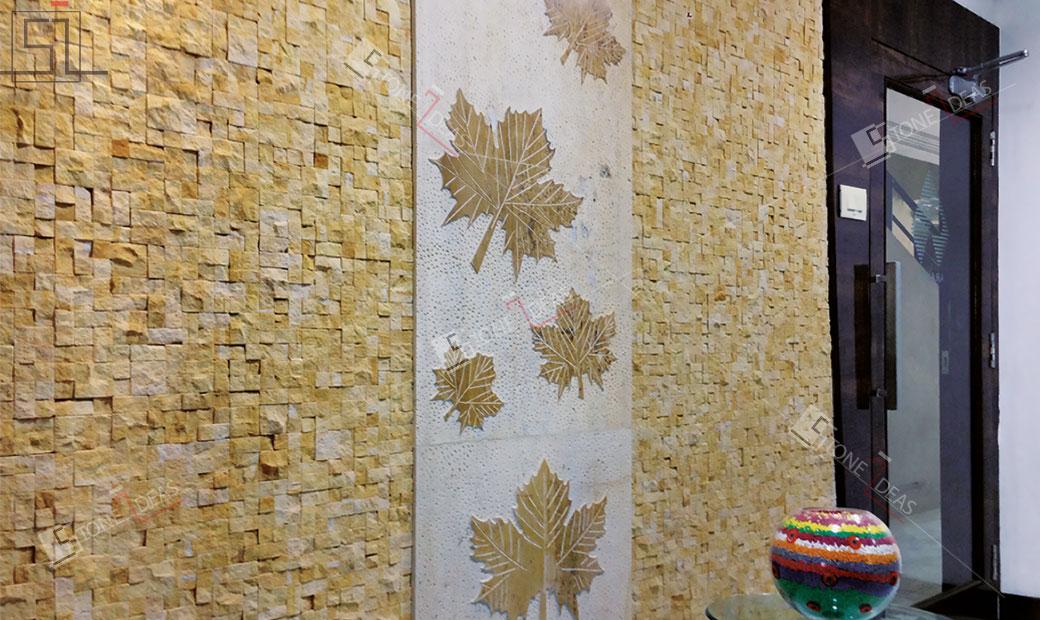 Natural Stone Murals Engraving Applications At Interior Exterior Wall