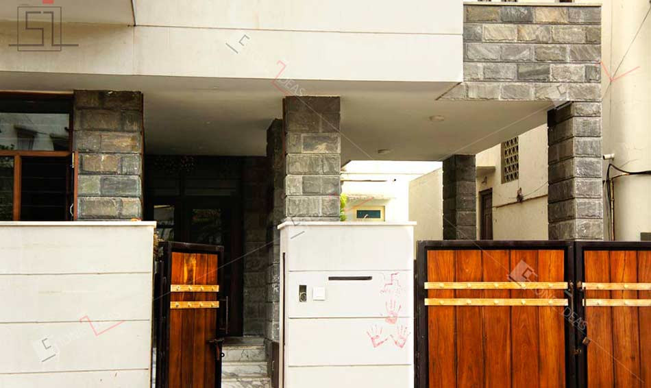 Front Elevation With Granite : Application of natural stone on interior exterior walls floor