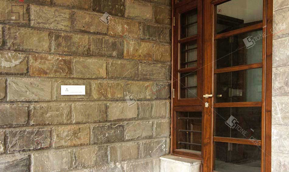 Front Elevation Stone Designs : Application of natural stone on interior exterior walls floor