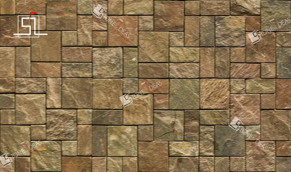 Stone wall mosaic tiles for interior exterior wall for Exterior wall tiles design india
